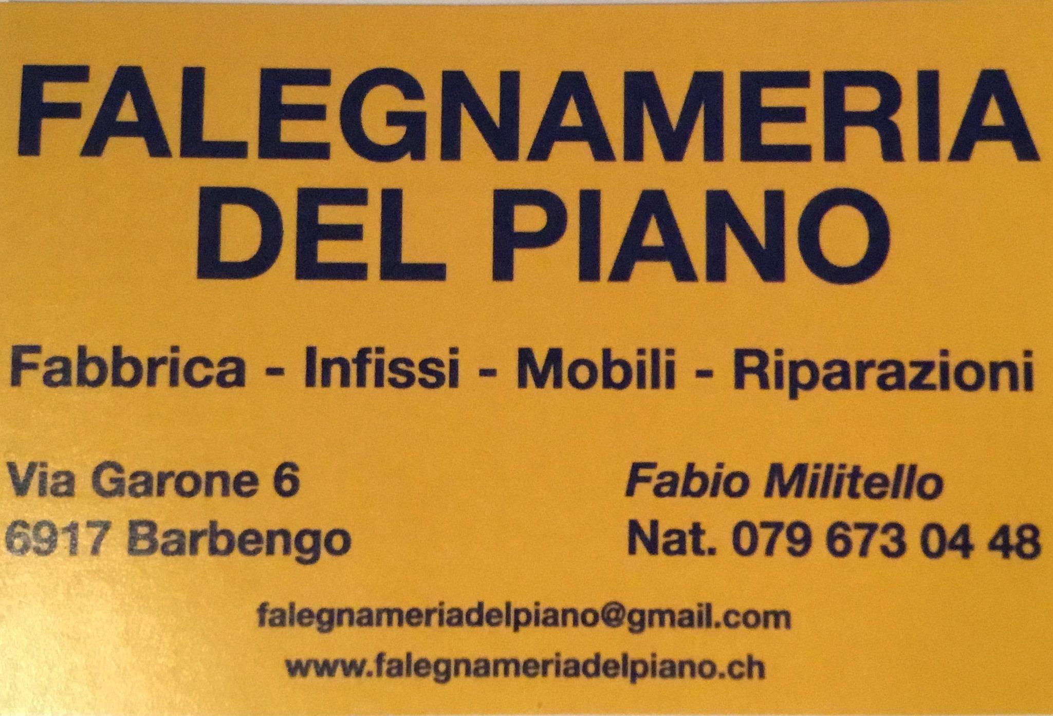 Falegnameria del Piano