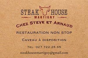 Steak House chez Steve et Arnaud