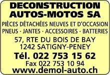 Déconstruction Autos-Motos SA