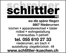 Schreiner schlittler ag for Innendekoration glarus