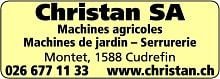 Christan SA Machines agricoles