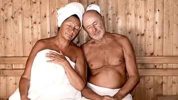 Schwitzen in der Sauna oder im Hammam für Gesundheit und Schönheit.