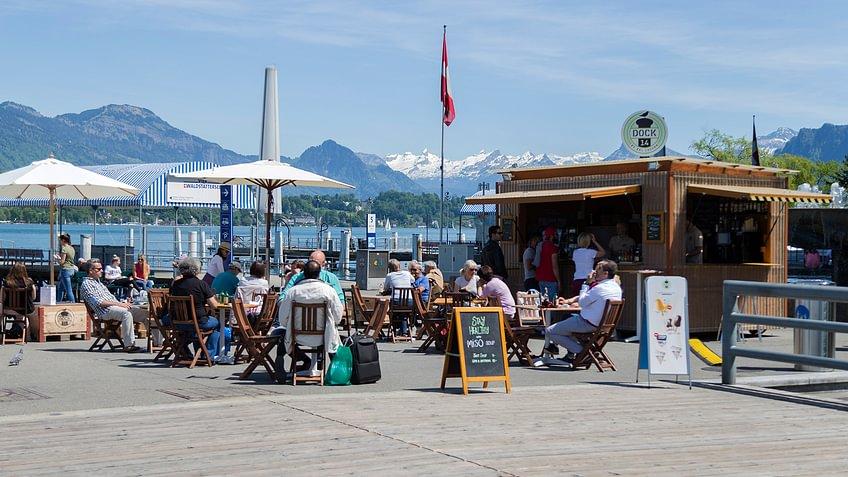 Dock 14 beim KKL Luzern