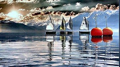 Lutry Bourg Médiéval sur les bords du lac Léman